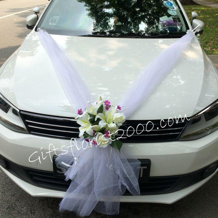Bridal Car Decoration 28 Lily Roses Silk Flowers 28 Arreglos