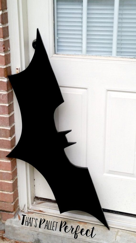 Large Batman Wood Cutout, DC Comics, Batman, Batman Sign, Superhero, Gift #superherogifts