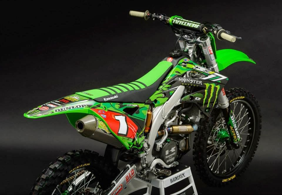 Attirant Kawasaki+KX 450F+R.Villopoto+San+Diego+2014+