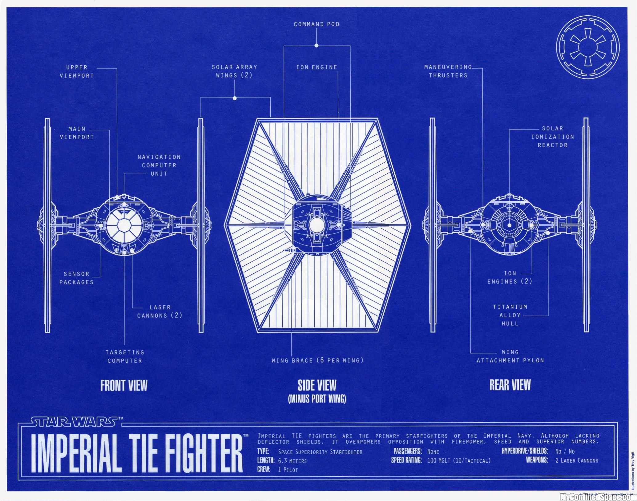 TIE Fighter Blueprint Tie FighterStar Wars