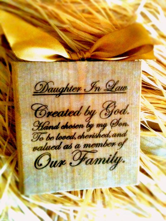 Daughter In Law Block by DesignsBySyds on Etsy, $13.99 ...
