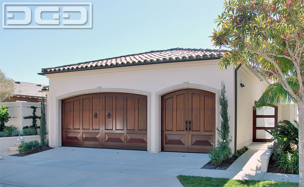 These Mahogany Garage Doors Were Beautifully Finished With A Rich