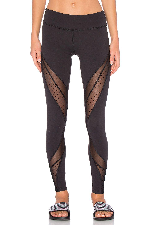 ddc1533277667 Beyond Yoga Polka Dot Mesh Long Legging in Black | REVOLVE ...