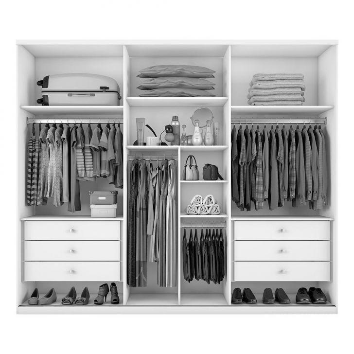 Kleiderschrank Casal Bari 6 Türen 6 Schubladen Weiß