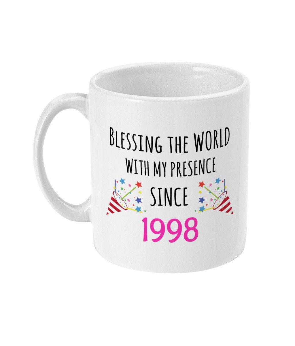21st birthday gift 21st birthday mug born in 1998 gifts