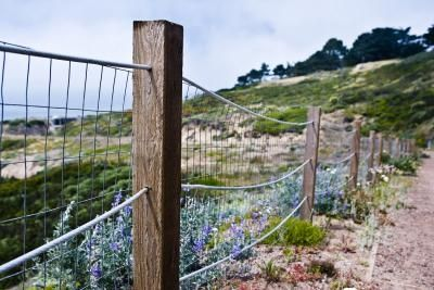 How To Install A Wire Fence On A Hill Chooks
