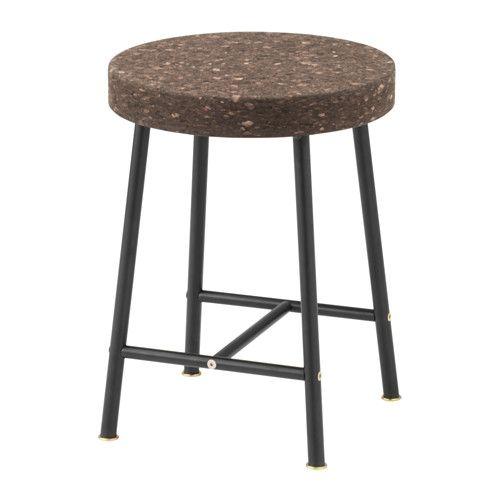 SINNERLIG Taburete, corcho marrón oscuro | IKEA | Pinterest | Marrón ...