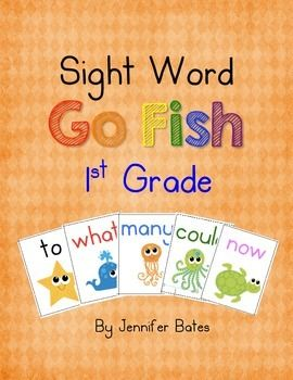Young Children Love To Play Go Fish Now They Can Have Fun While Learning Their Sight Words I Broke The First 100 Fry Word Sight Words Fry Words Going Fishing