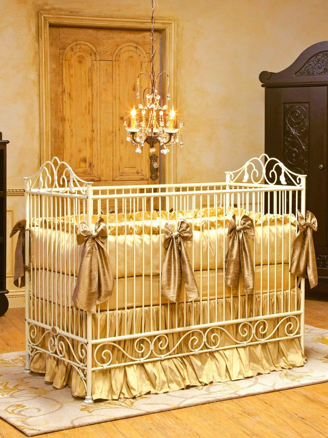 Gold Iron Crib | Some Safety Tips for Using Iron Cribs | Pinterest ...