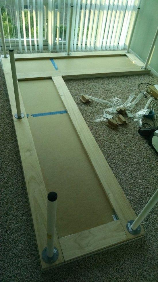 Large Corner Desk Upsized From Ikea Linnmon Tables
