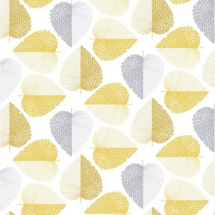 Habitat Stitch Leaf Printed Wallpaper  Mustard Yellow at Homebase  Be inspired and make your