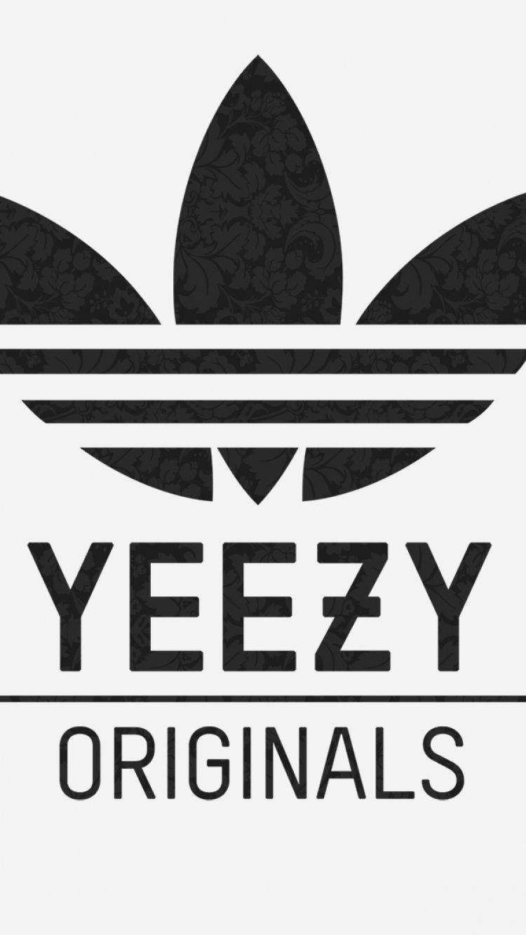 scaricare la carta da parati 750x1334 adidas, yeezy, logo iphone 6 hd