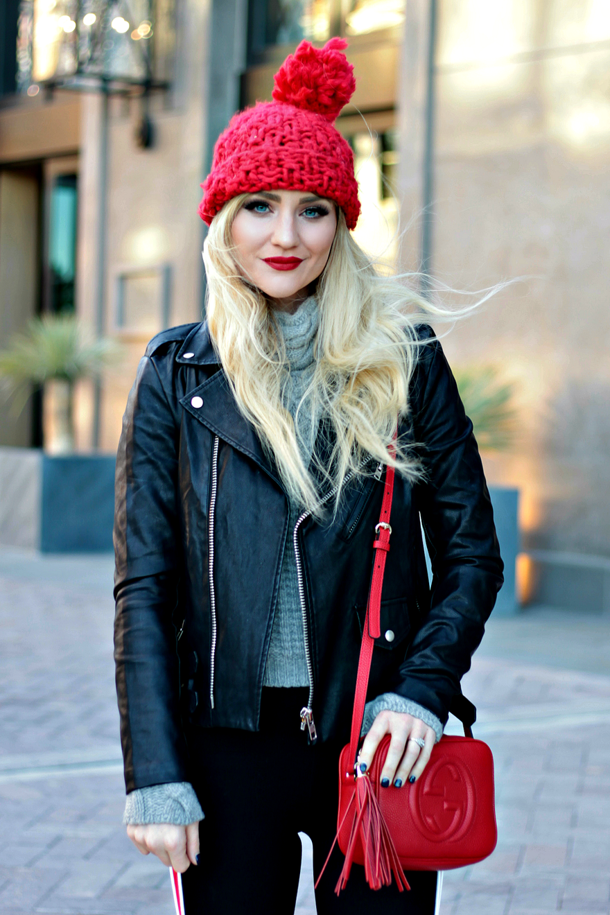POPS OF RED & WHEN IT'S OK TO SPLURGE Red beanie outfit