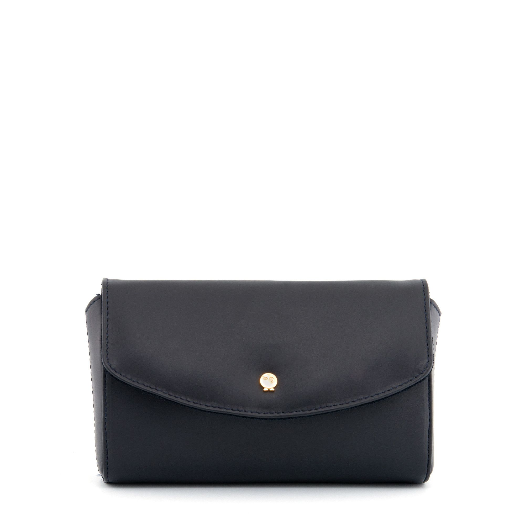 45b4d149077 The Crawford Navy Leather Clutch Bag by Yoshi | The Harlow ...
