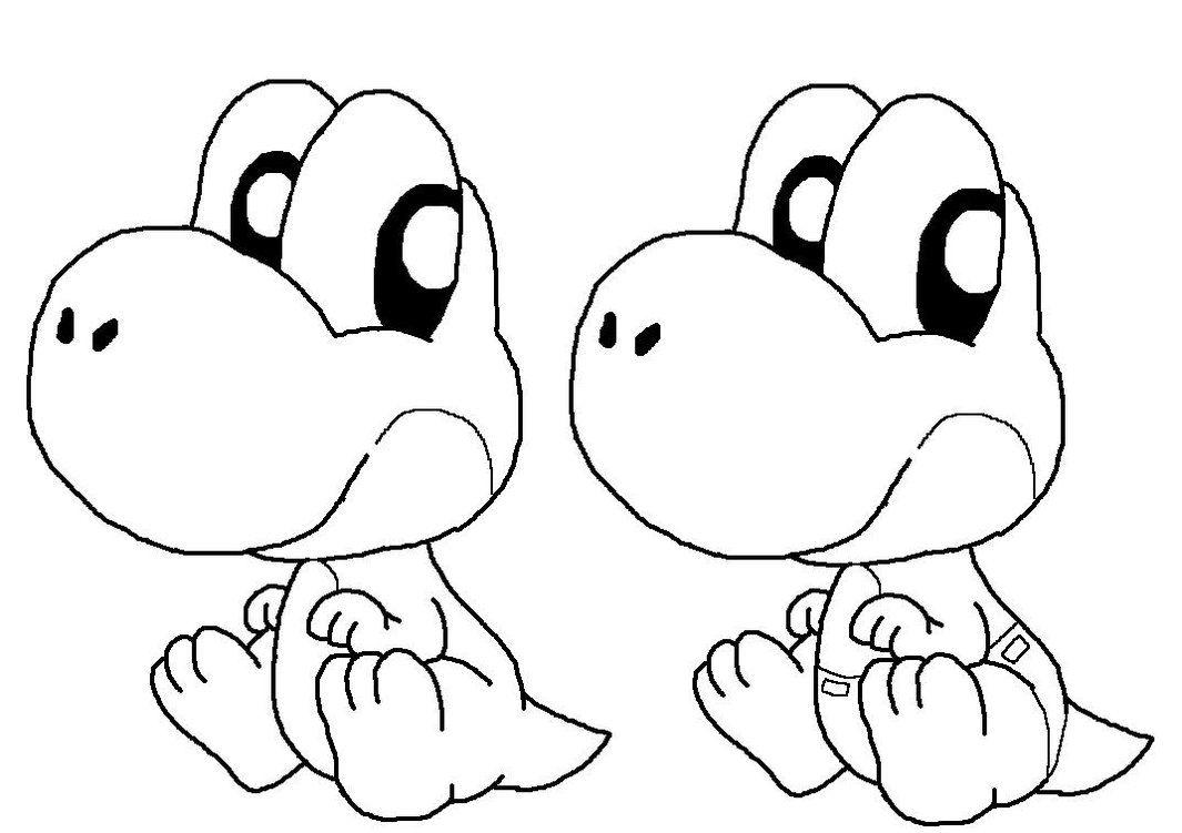 Yoshi Coloring Page