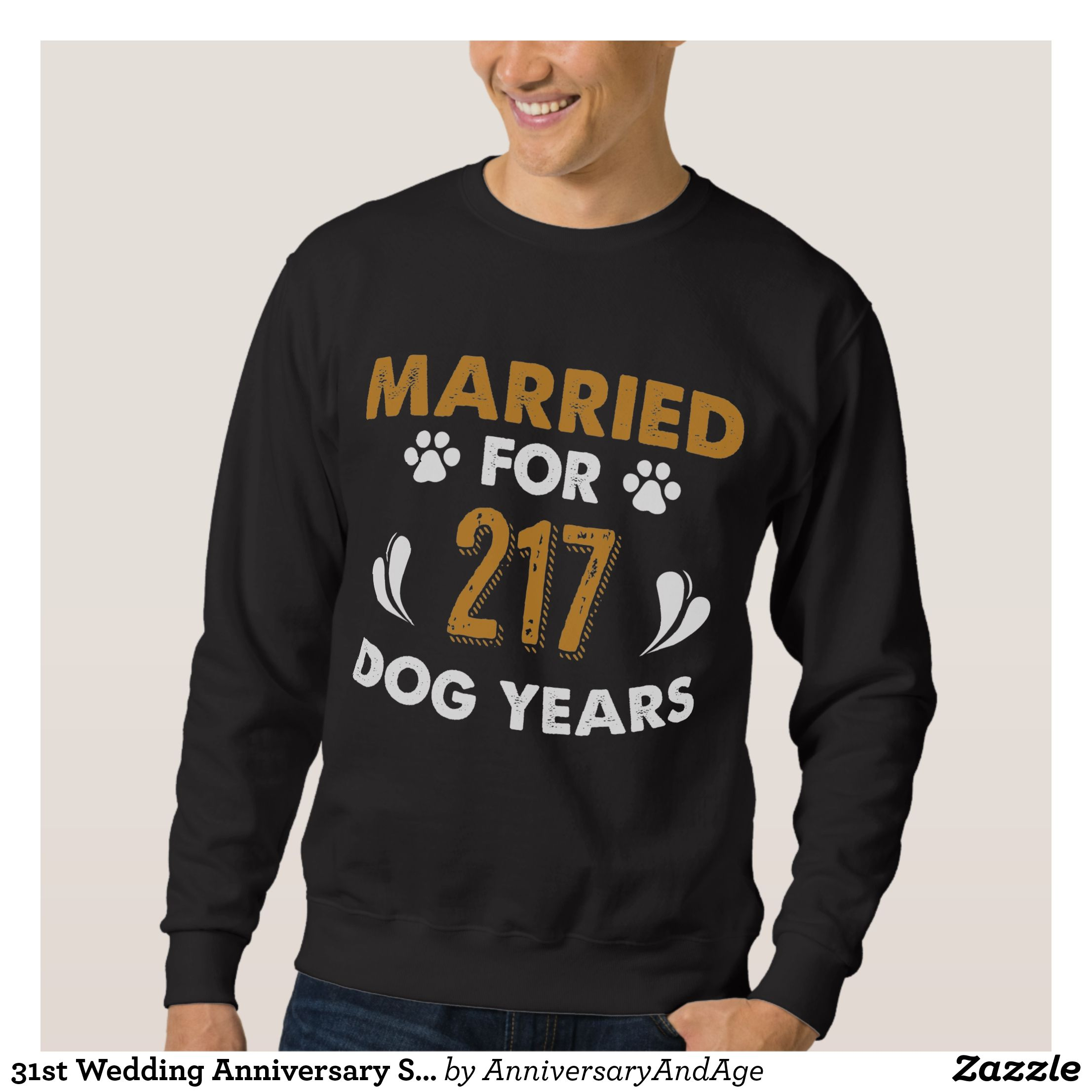 31st Wedding Anniversary Shirt For Dog Lover