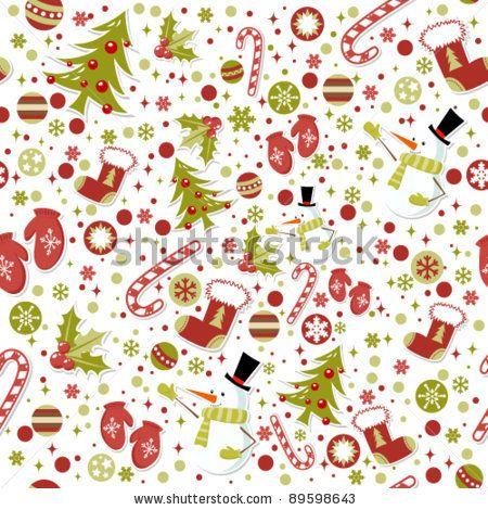 Christmas cartoon pattern / Patrón navideño