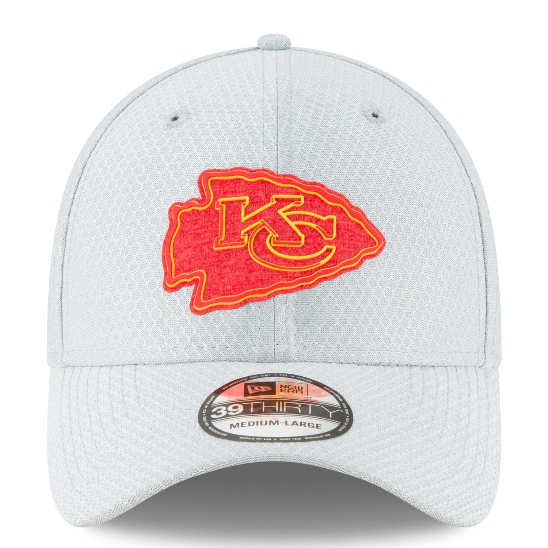 11e1008a Adult New Era Kansas City Chiefs 39THIRTY Training Flex-Fit Cap in ...
