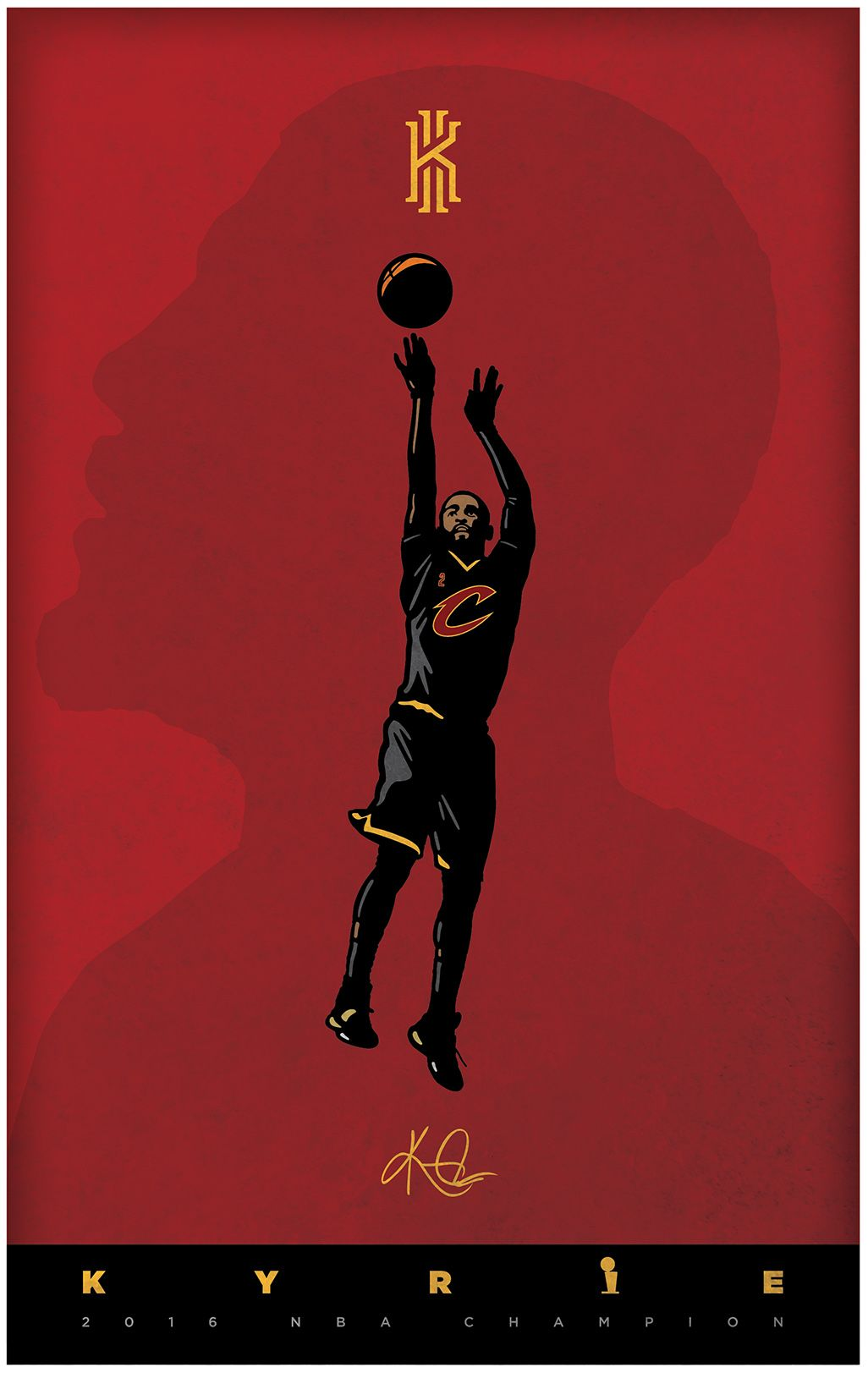Kyrie Irving poster designed for my son. My Art
