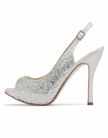 da53af4ce8d8 Clearance Bridal Shoes - Up to Off - Sale. CLEARANCE  Vienna by Benjamin  Adams Silver 7