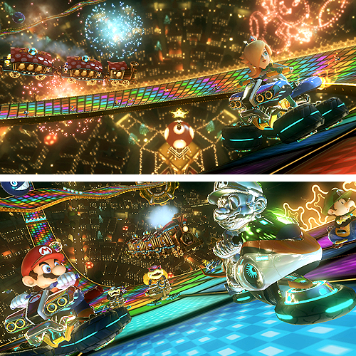 Rainbow Road Mario Kart 8 Coming To Wii U On May 30th Pre Order Nintendo Cafe Rainbow Road Mario Kart Mario Kart Mario Kart Wii