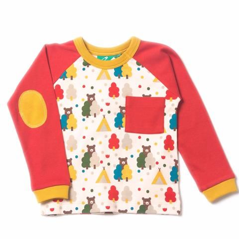 Red Bear Necessities Raglan Top Organic Fairtrade Cotton Baby
