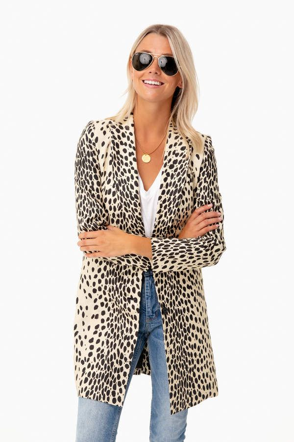 Leopard Wingtip Coat   Emerson Fry