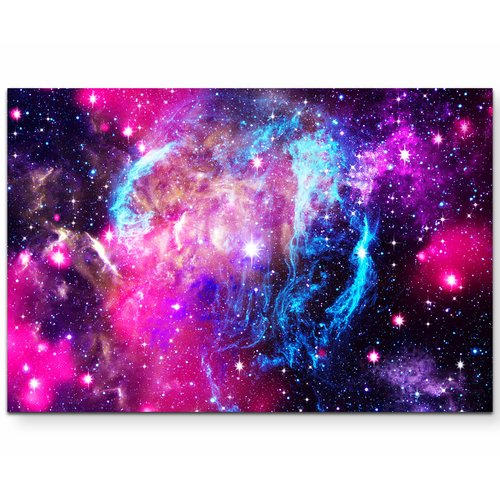 East Urban Home Stars In Space Photographic Print On Canvas Galaxy Background Natural Background Deep Space