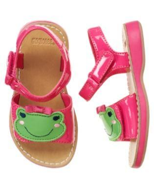 2c591ad1 GYMBOREE Bright Tulip frog sandals Size 6 NWT $13.95 + FREE Shipping ...