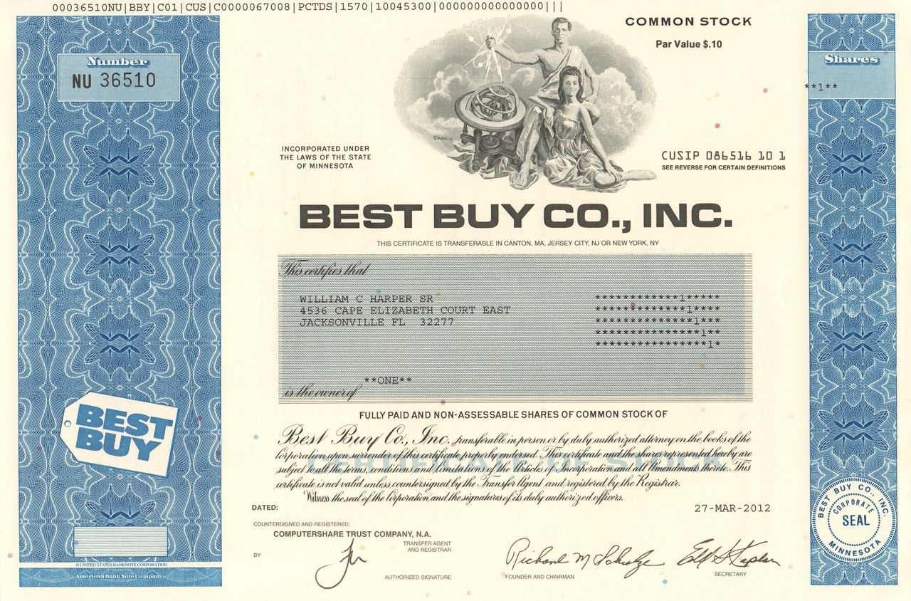 packerville u s a stock certificates history