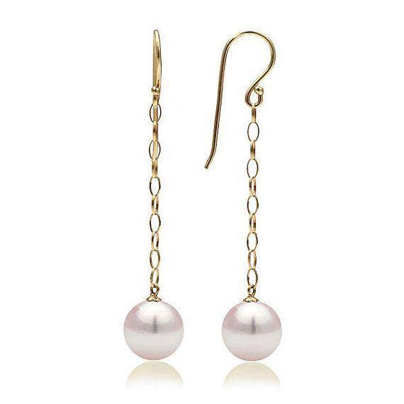 18k yellow #gold with natural #pearl will enhance the glamorous.