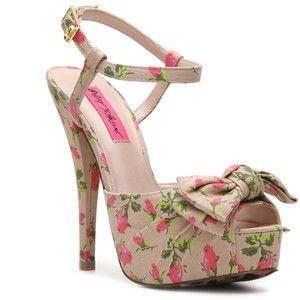 Betsey Johnson Haylie Sandal - Nude/Pink Multi
