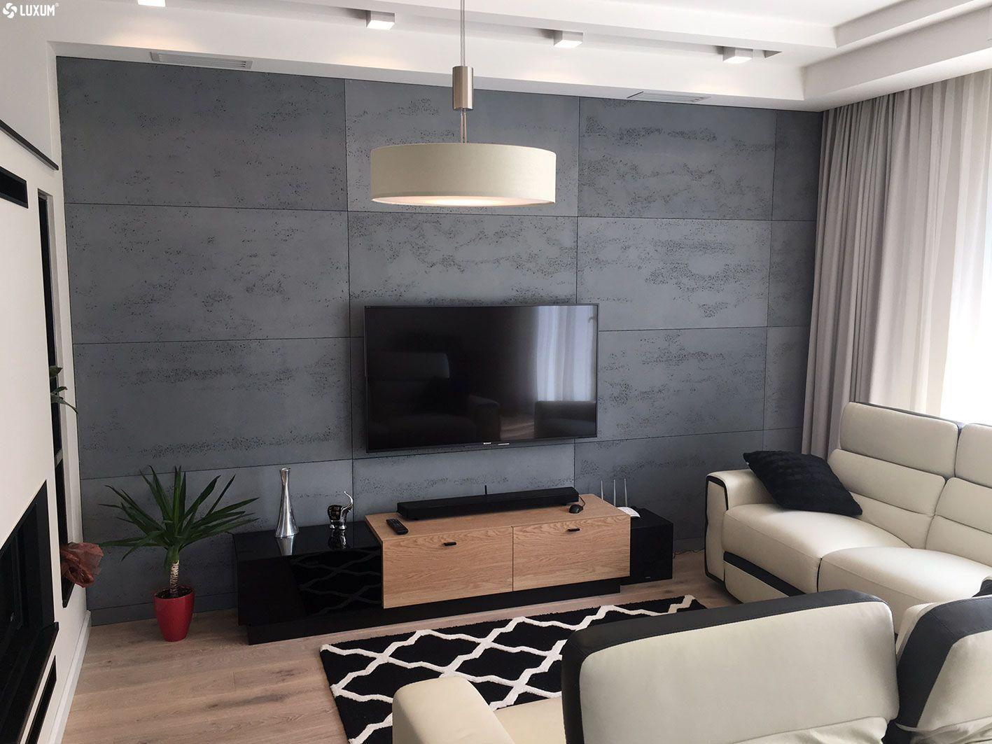 Beton Architektoniczny W Salonie Concrete Decor Decor Living Room