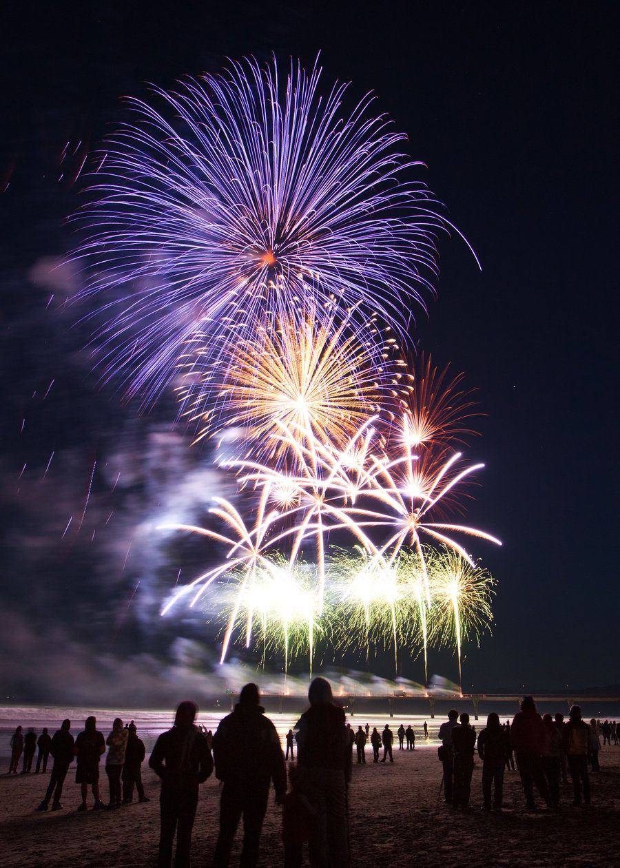 Fireworks at the New Brighton Pier Christchurch City, New