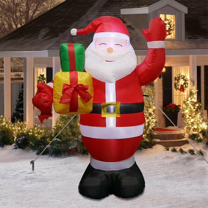Details about 5ft Christmas Inflatables Greeting Santa ...