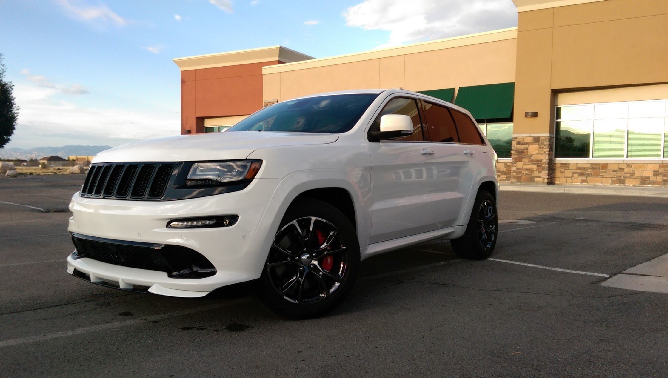 Front Grill Black Out And Spoiler Lip Jeep Grand Cherokee Srt