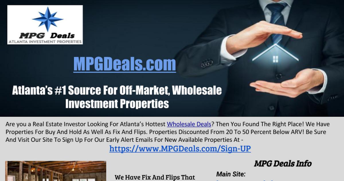 Discount Investment Properties Wholesale Homes Atlanta Ga