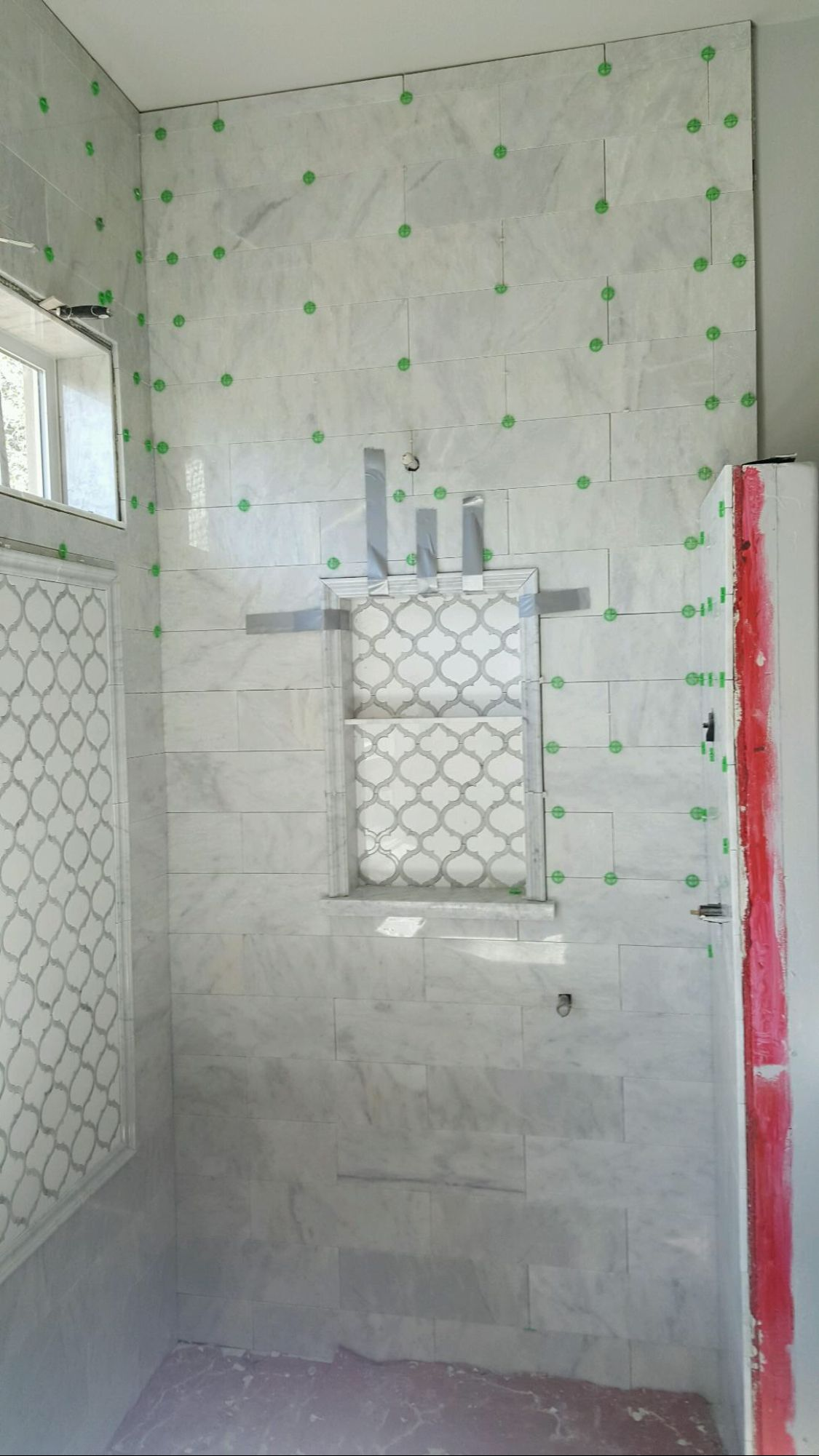 Luxe shower tiles at an affordable price. Call tilebuys … | Waterjet ...