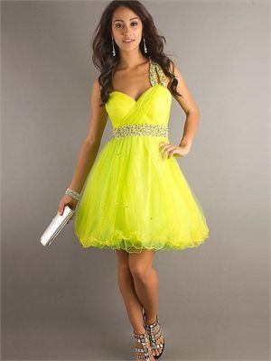 Short Yellow Prom Dress - Ocodea.com