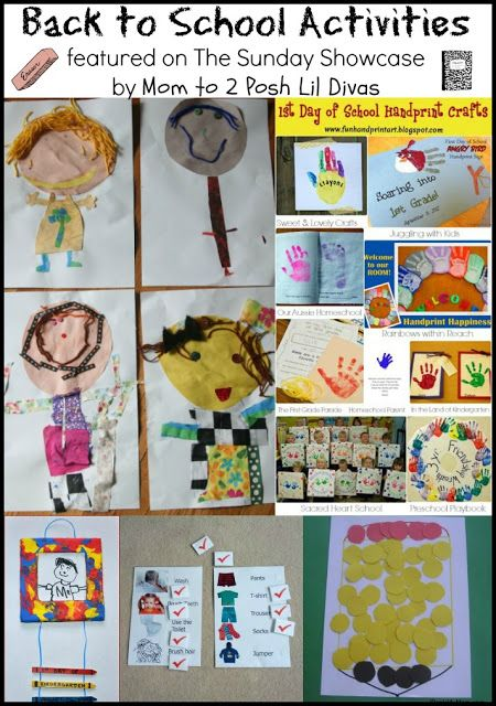 Back To School Crafts And Activities For Kids The Sunday Showcase