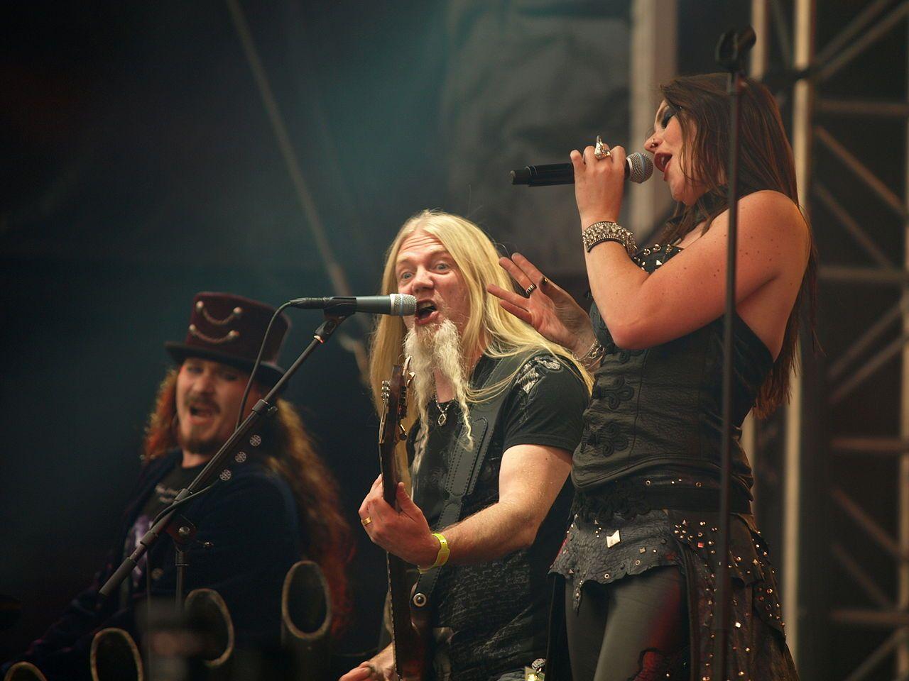 Nightwish floor jansen marco hietala and tuomas holopainen for Floor nightwish