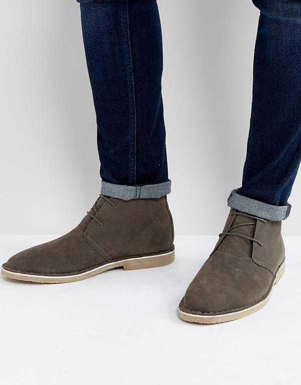 Buy Men Shoes / Asos Desert Boots In Grey Suede