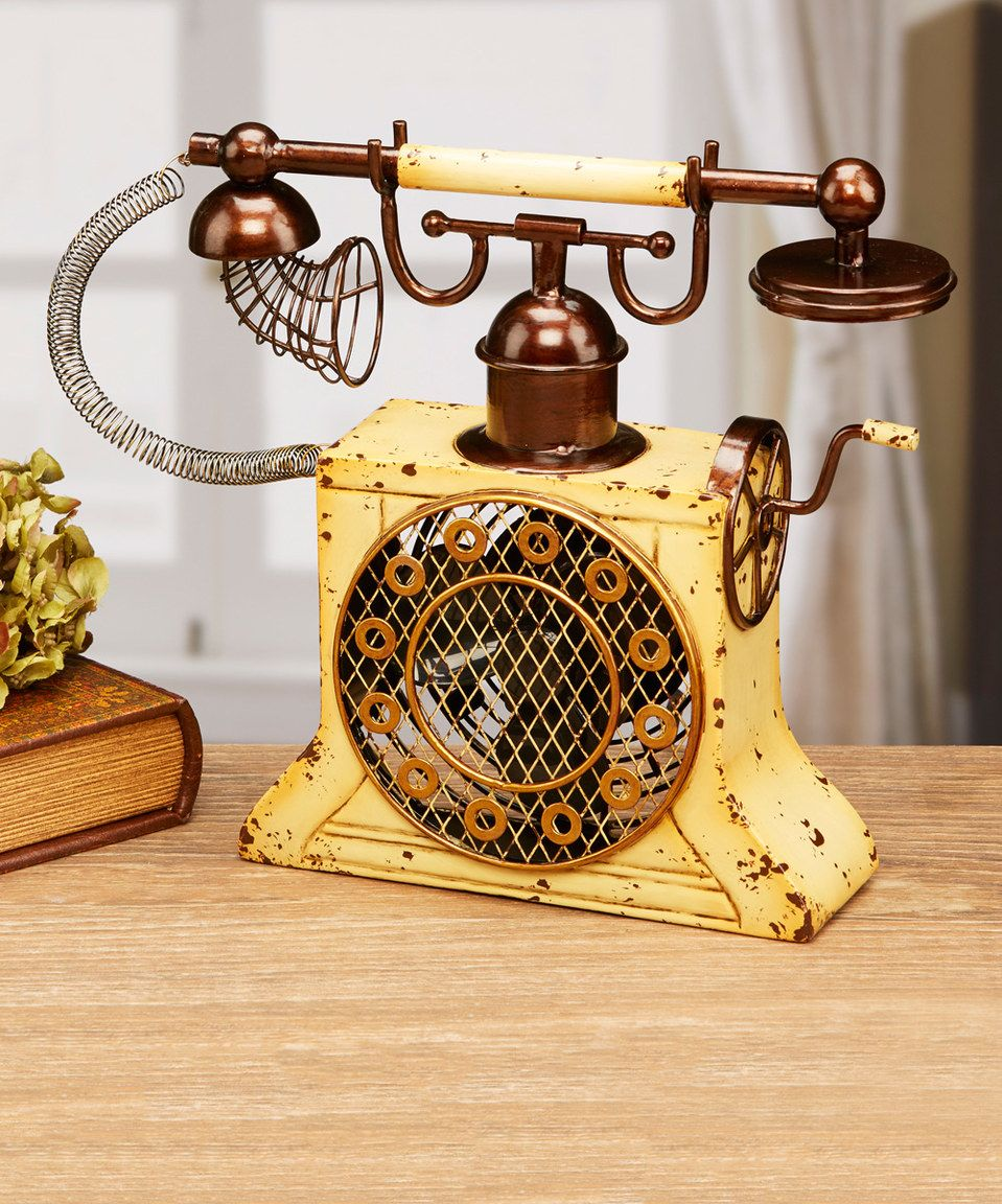 Look at this #zulilyfind! Antique Phone Metal Fan by DecoBreeze ...