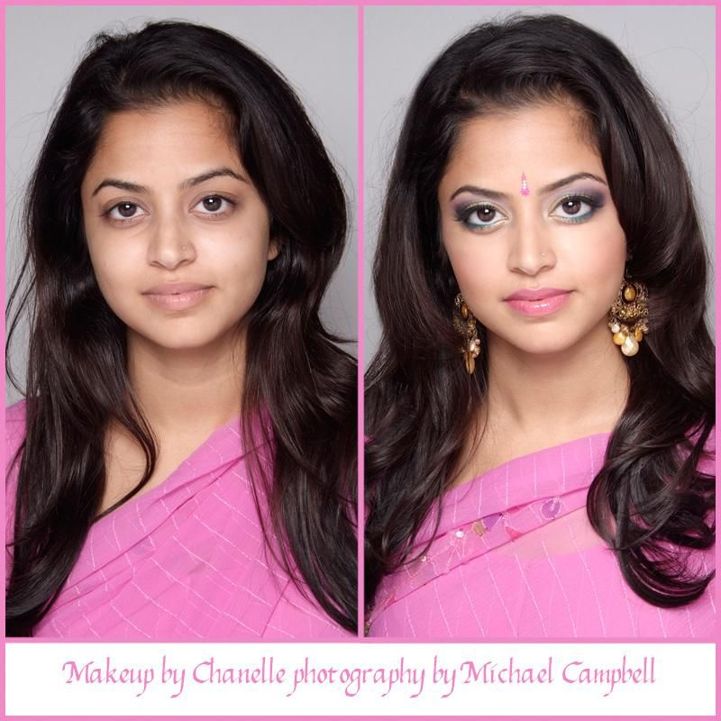 Airbrush Bridal Makeup Before And After : Indian bride before and after using airbrush makeup BE ...