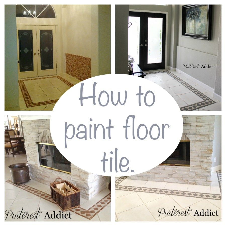 Painting Floor Tile | Painted floor tiles, Painted tiles and Tile ...