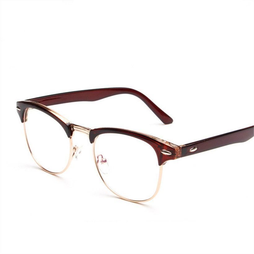 ray ban half frame mens glasses