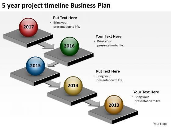 Year Project Timeline Business Plan PowerPoint Templates Ppt - Five year business plan template