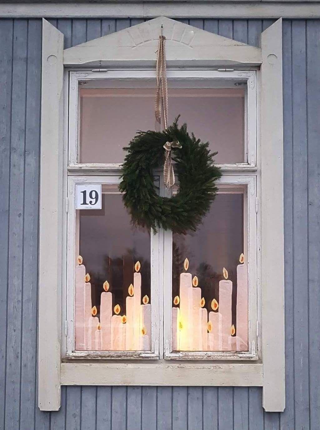Wunderschöne Fensterdeko für Weihnachten