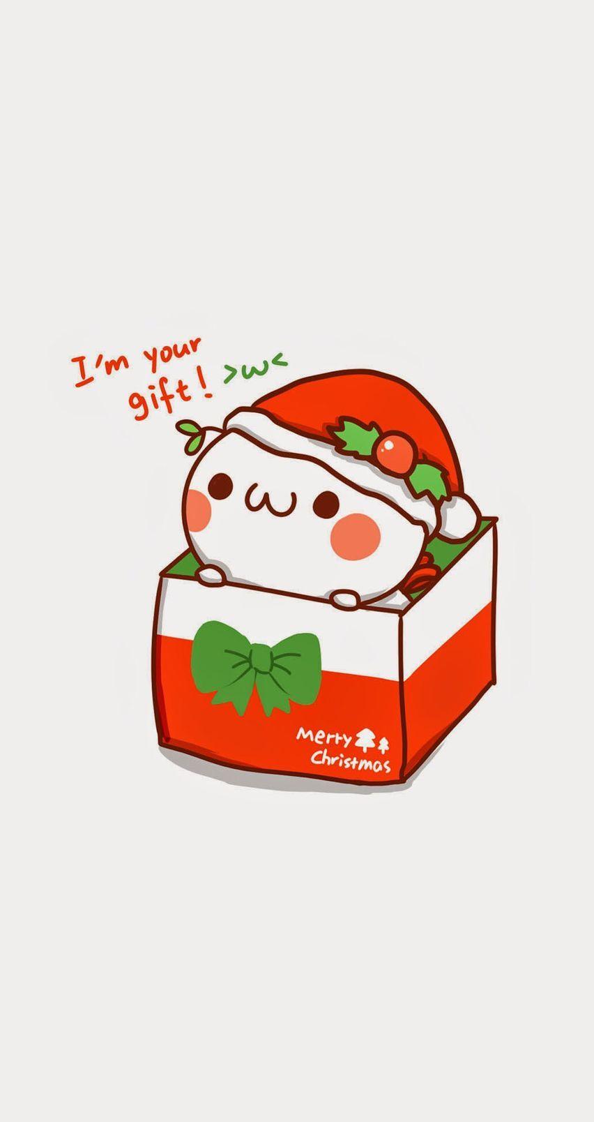 I M Your Gift Mobile9 Christmas Phone Wallpaper Wallpaper Iphone Christmas Cute Cartoon Wallpapers