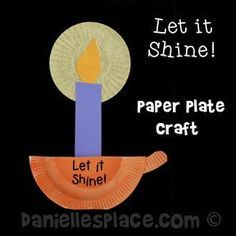 Candle Holder and Candle Paper Plate Craft from .  sc 1 st  Pinterest & Let it Shine!